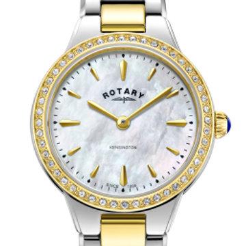 Rotary Two Tone Gold Kensington Ladies Quartz