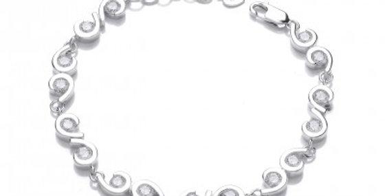 CZ Comma Bracelet