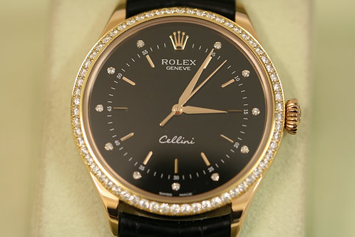 Rolex Cellini 18ct Rose Gold & Diamonds