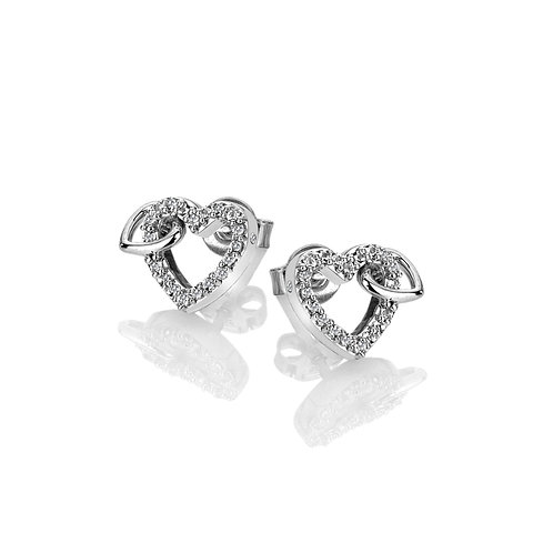Togetherness Open Heart Earrings