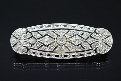 Original Art Deco Platinum and Diamond Brooch