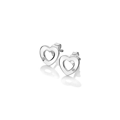 Diamond Amulet Heart Earrings