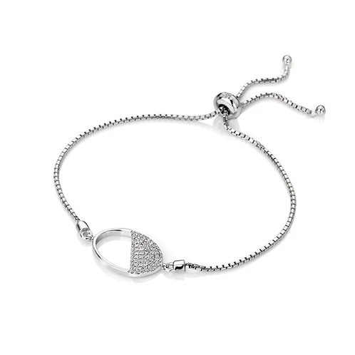 Horizon White Topaz Oval Bracelet