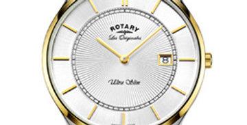 Rotary Ultra Slim Two Tone Gold Swiss Watch