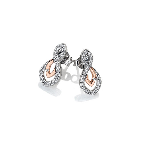 Harmony White Topaz Earrings - Rose Gold Plate Accents