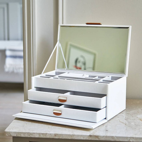 NOTTING HILL WHITE LARGE JEWELLERY BOX