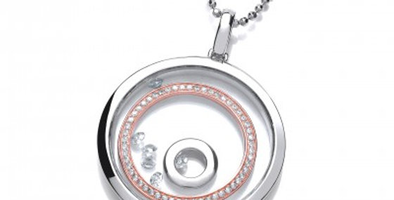 Celestial Silver Saturn Rings Pendant without chain