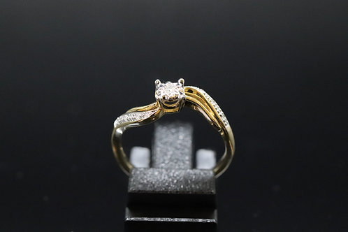 Solid Gold Diamond Ring