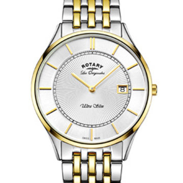 Rotary Ultra Slim Two Tone Gold Swiss Watch
