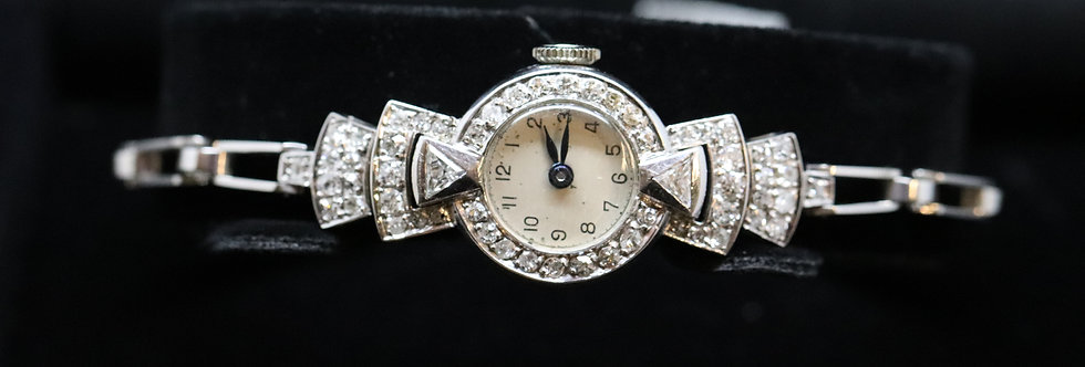 Pre-owned 18ct Gold Diamond Cocktail Watch