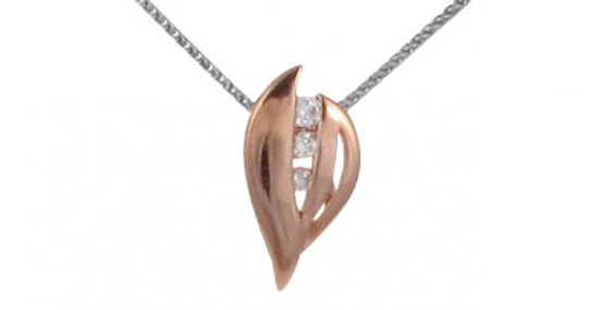 Golden Leaf Pendant without Chain