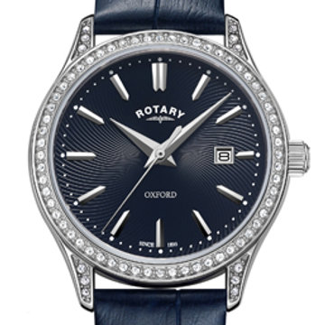 Rotary Oxford Blue Stainless Steel Quartz Watch