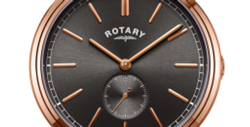 Rotary Rose Gold Cambridge Offset Gents
