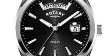 Rotary Gents Stainless Steel Black Dial Henley