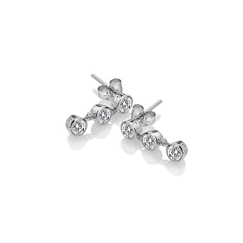 Tender White Topaz Earrings - Triple Drop