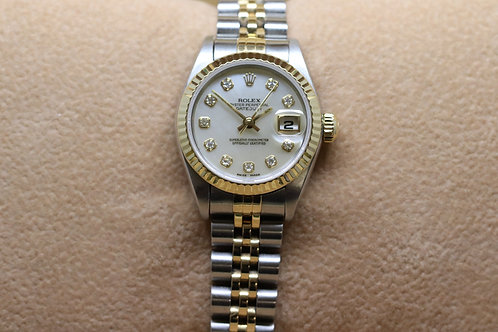 Ladies Rolex Datejust M.O.P 18ct Gold and Stainless Steel