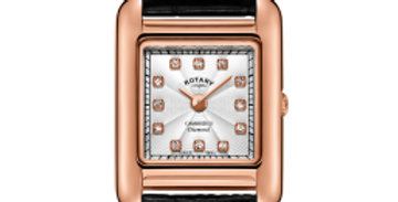 Rotary Ladies Diamond Set Rose Gold PVD Cambridge