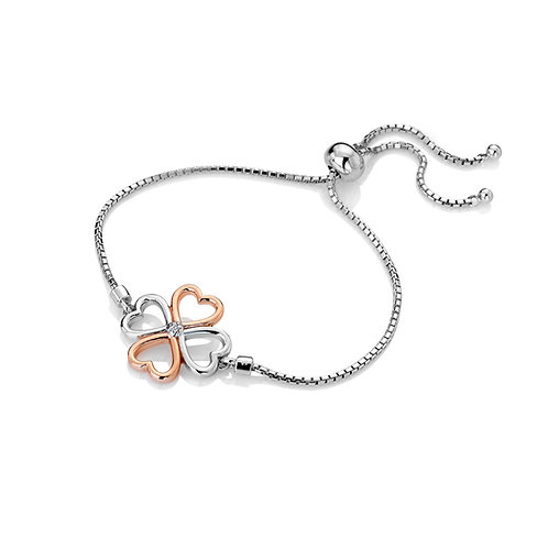 Lucky in Love Bracelet - Rose Gold Plate Accents