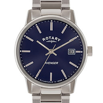 Rotary Avenger Blue Dial Stainless Steel Watch
