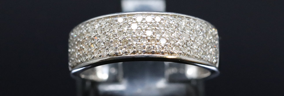 Pavé Set Diamond and Gold Ring
