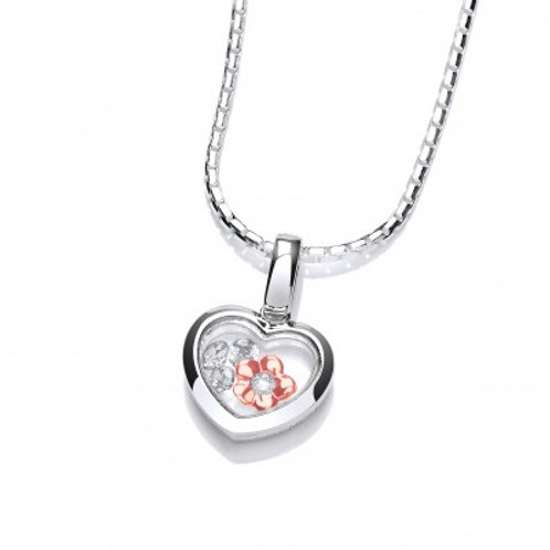 Celestial Flower within my Heart Pendant without Chain
