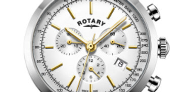Rotary White Cambridge Gents Chronograph Quartz