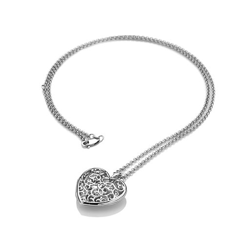Embracing Heart Locket - Large