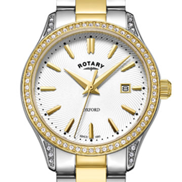 Rotary Oxford Two Tone Gold Stainless Steel Quartz