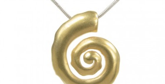 Silver and gold vermeil spiral pendant without Chain
