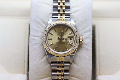 Ladies Rolex Datejust 18ct Gold and Steel