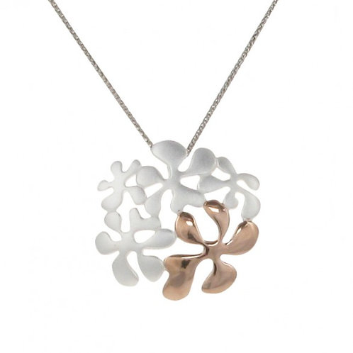 Stylised Psychedelic Flower Pendant without Chain