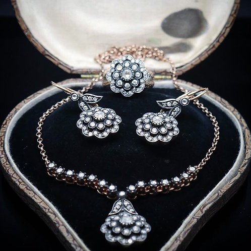 Early Victorian Diamond & Rose Gold Suite