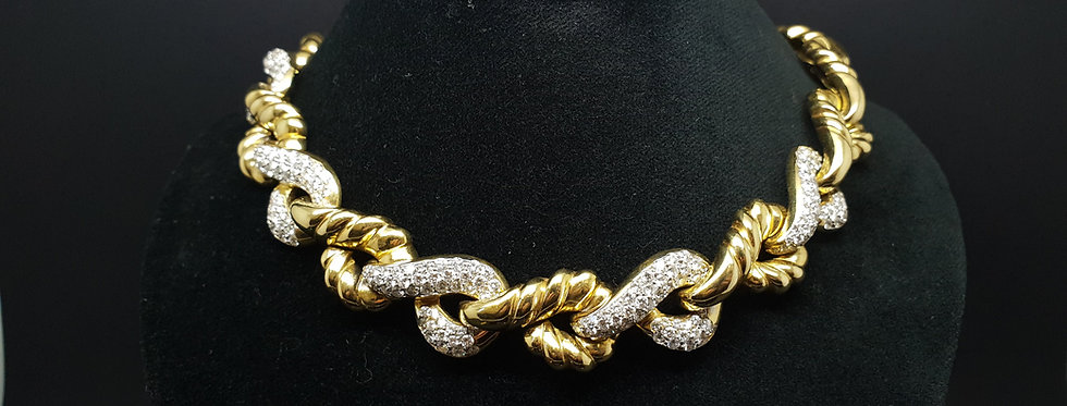 """Piaget""18ct Solid Gold and Diamond Necklace"
