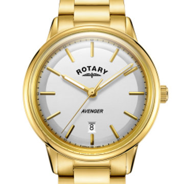 Rotary Gold Avenger Gents Quartz