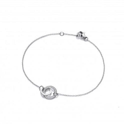 Silver and CZ Eternal Love Bracelet