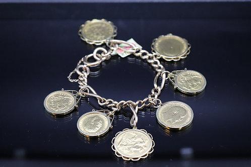 Gold Sovereign Bracelet