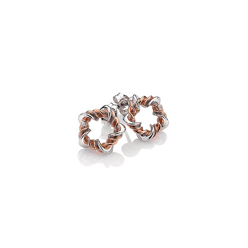 Vine Earrings - Rose Gold Plate Accents