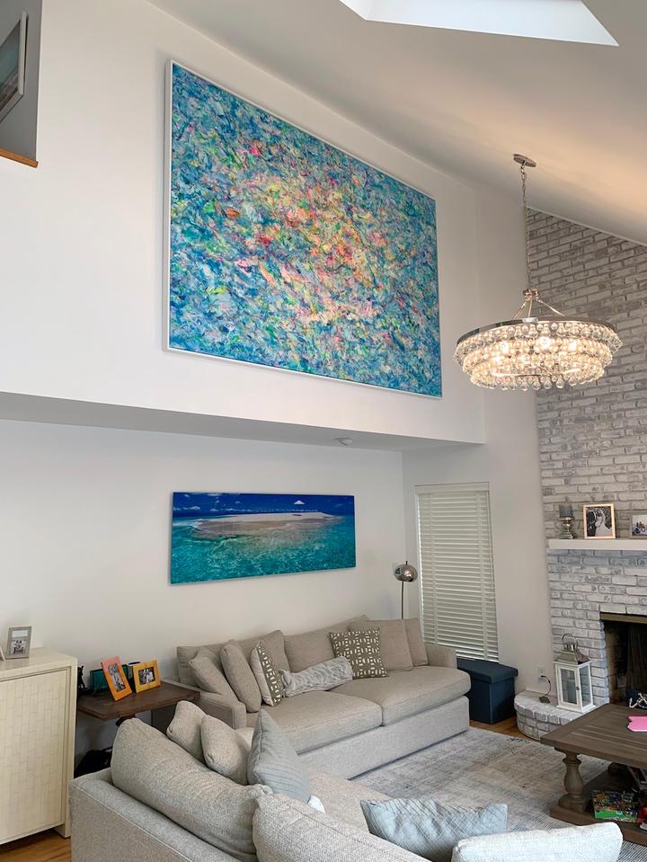 The Beach, 72x108 inches, acrylic on canvas, Southampton, NY