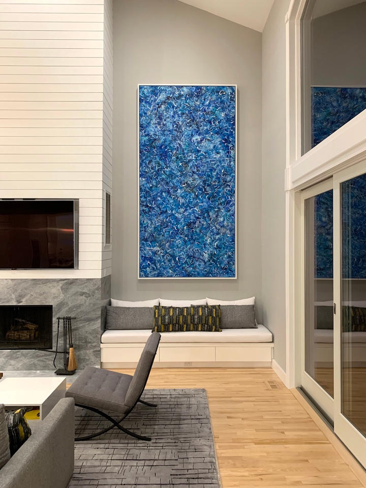 Water and Sky, 120x60 inches, acrylic on canvas, Southampton, NY