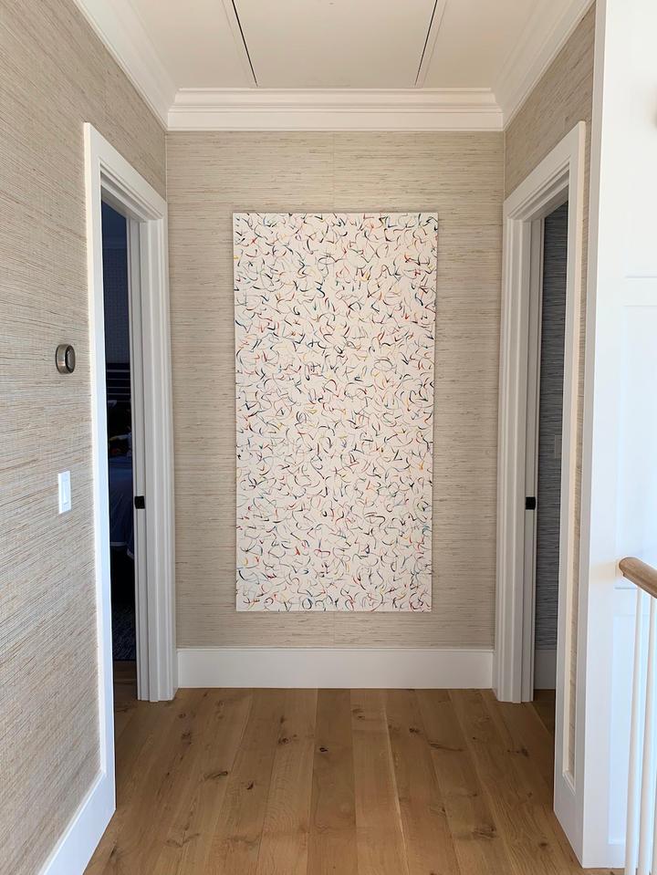 Happy 30, 72x36 inches, acrylic on canvas, Southampton, NY
