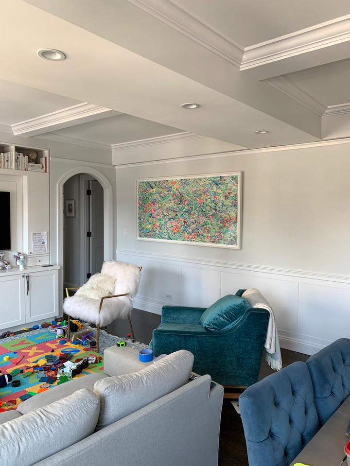 One With The Sea, 38x74 inches, acrylic on paper, New York, NY