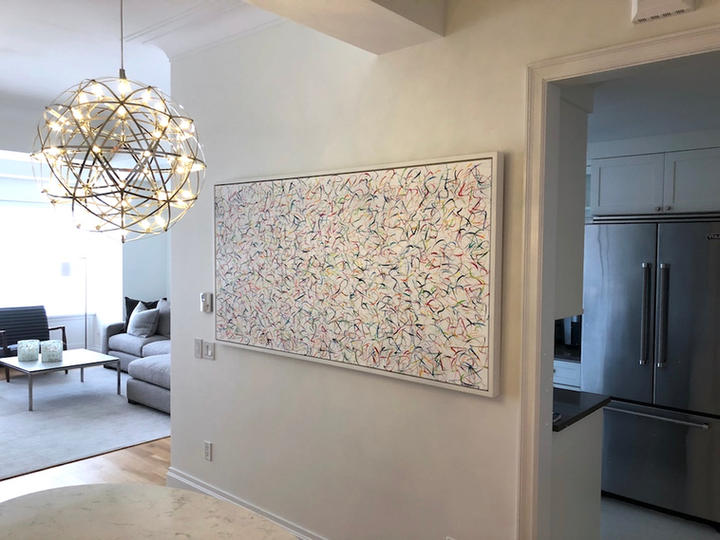 Happy 18, 36x72 inches, acrylic on canvas, New York, NY