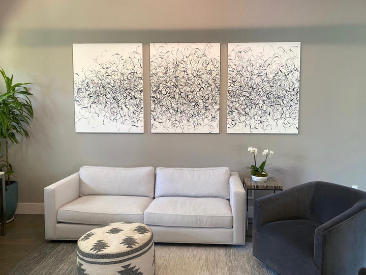 Drive, 46x115 inches, acrylic on canvas, Water Mill, NY