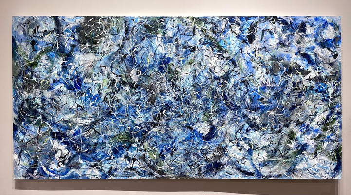 Float To The Top, 36x72 inches, acrylic on canvas, 2020