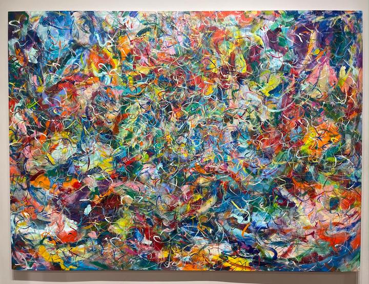 Energy, 56x76 inches, acrylic on canvas, 2020
