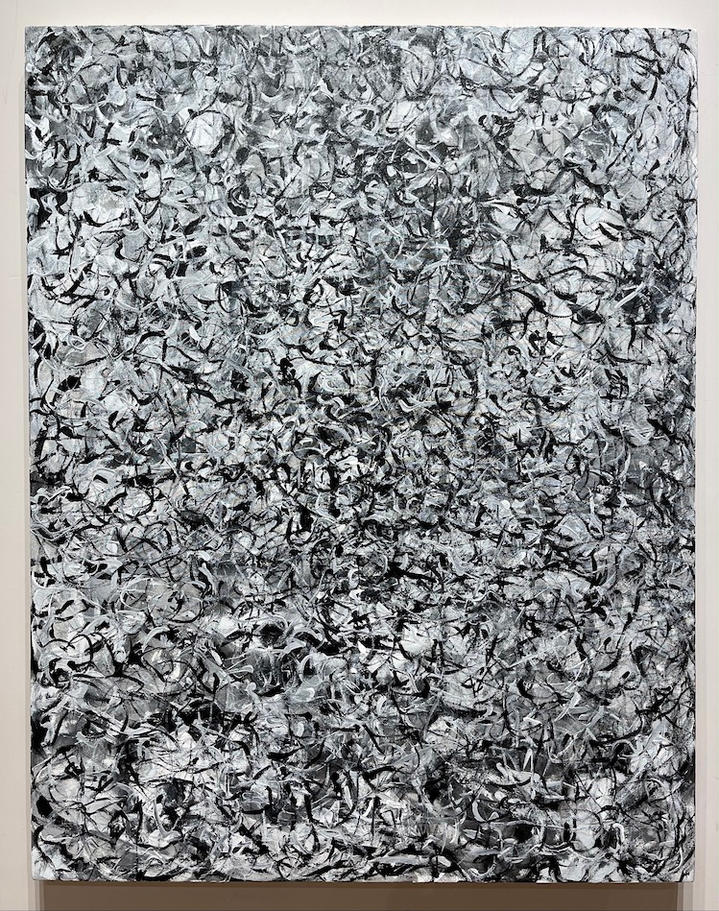 Black and White, 46x36 inches, acrylic on canvas, 2020