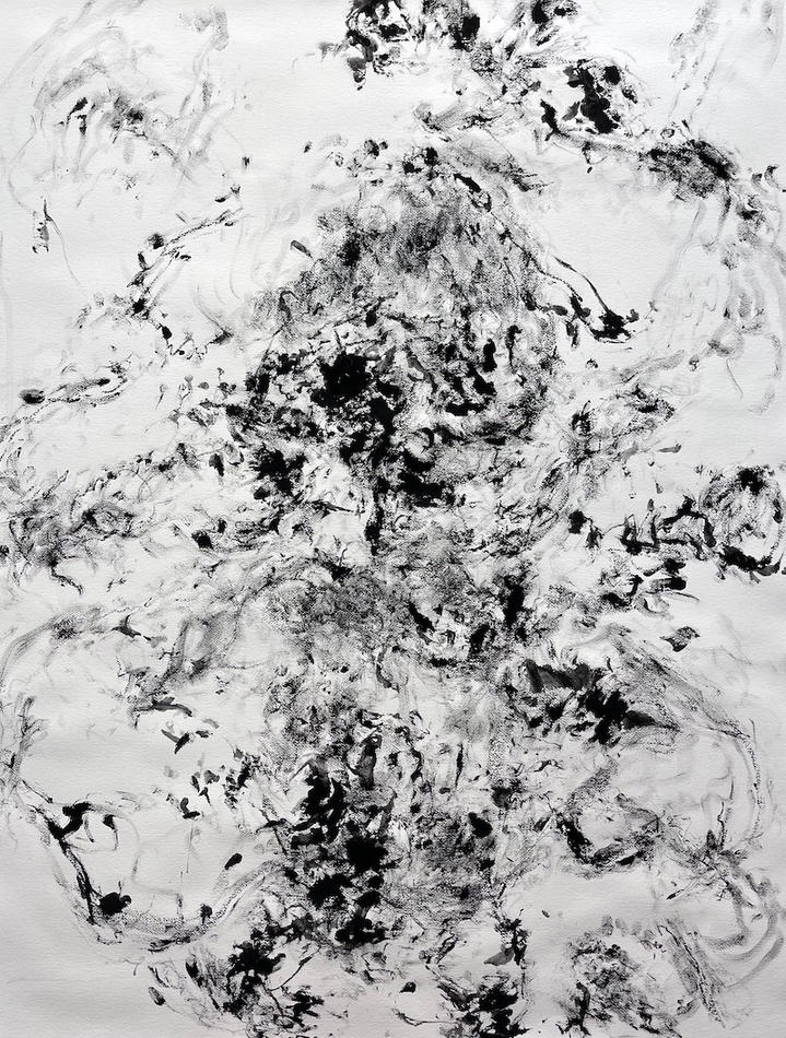 Calling Out To You, 46x36 inches, charcoal on paper, 2021