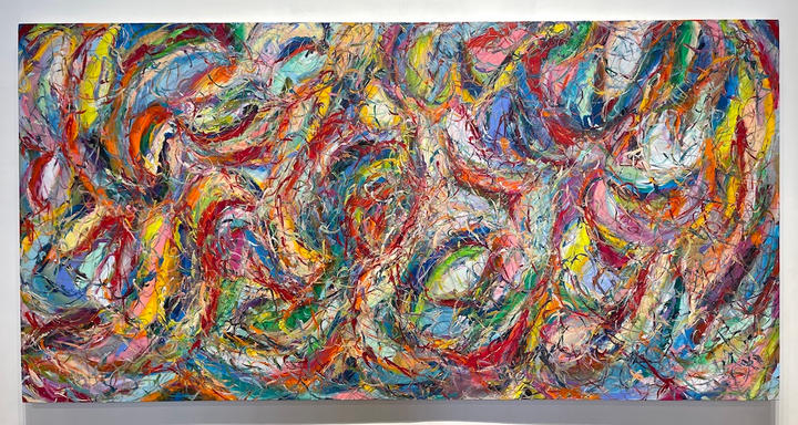 Connection, 36x72 inches, acrylic on canvas, 2021