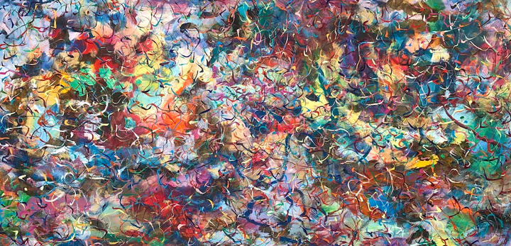 Magical, 38x74 inches inches, acrylic on paper, 2020