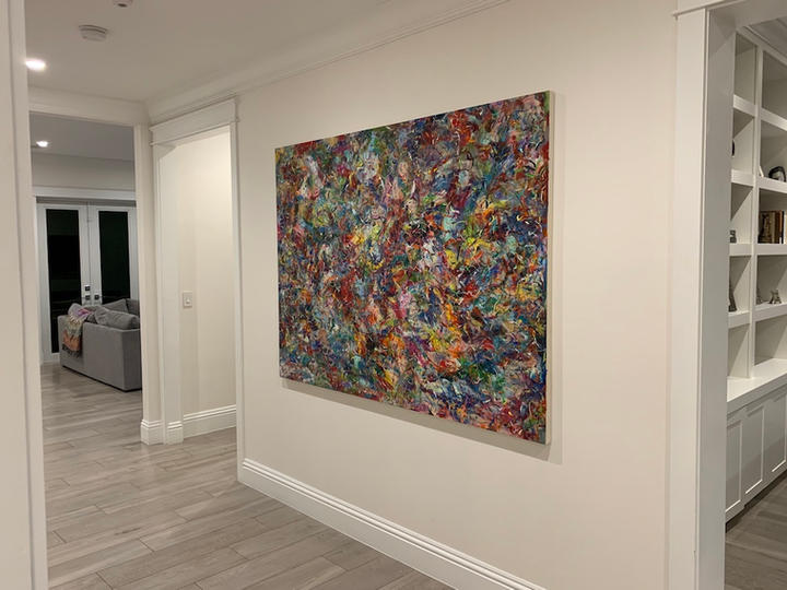 Feeling It All, 56x76 inches, acrylic on canvas, Miami, FL